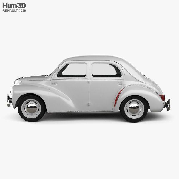 3d Model Of Renault 4cv Sedan 1947 1961 Renault Sedan 3d Model