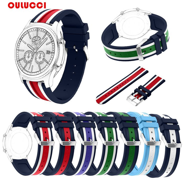 New  Colorful  Oulucci 22mm  Accessories  Soft  Silicone Band For Samsung Gear S3 Frontier,Bracelet Strap Sports Style Black. Yesterday's price: US $5.69 (4.62 EUR). Today's price: US $5.23 (4.24 EUR). Discount: 8%.