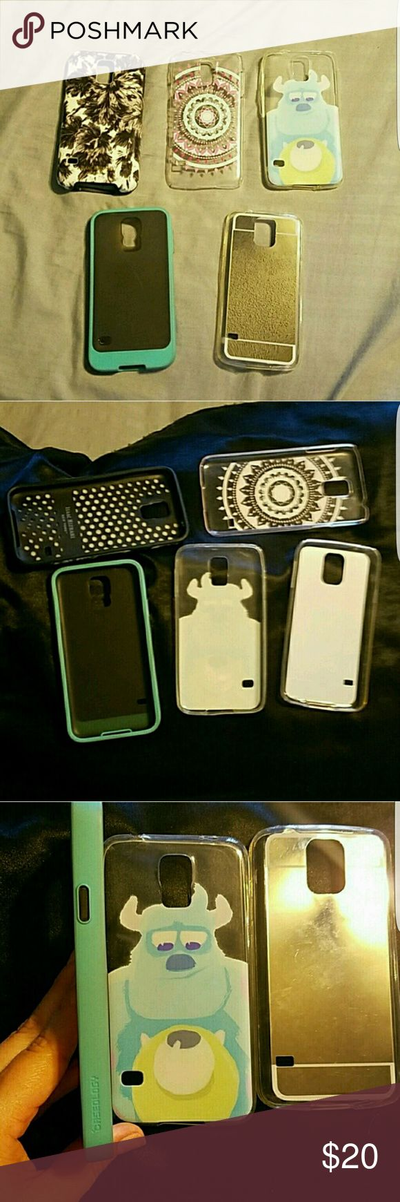 Samsung Galaxy s5 cases The price I'm charging is actually just for the Isaac Mizrahi case, all other cases are freebies lol. Not interested in selling separately. I paid over 60 bucks for all these cases, 30 for the Isaac mizrahi one samsung Other