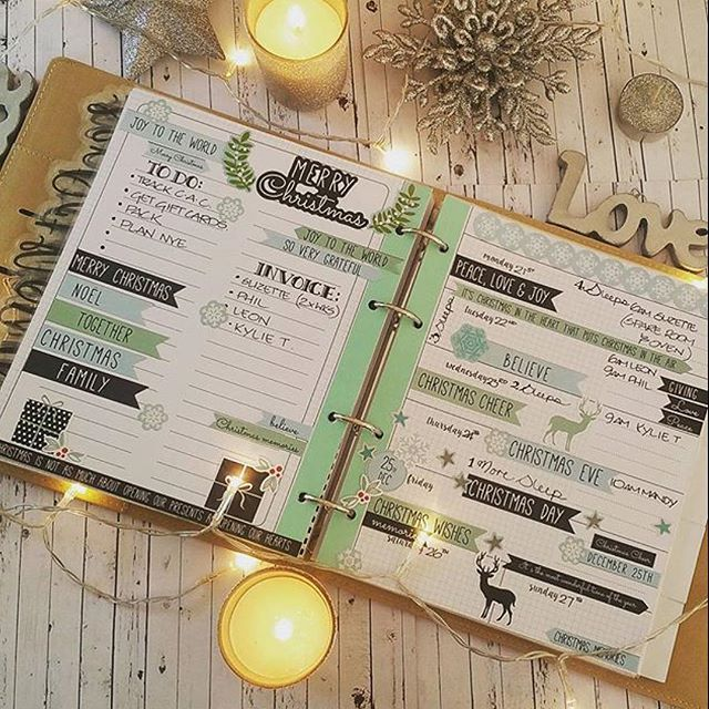 Looks like @proudplanner is set for a super busy Christmas week  We  how Jodie's decorated her new Kaisercraft Journal Planner! So much Christmassy goodness! #kaisercraftjournalplanners #christmas #planneraddict