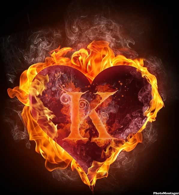 Awesome pic created by photomontager com abecedario heart on fire
