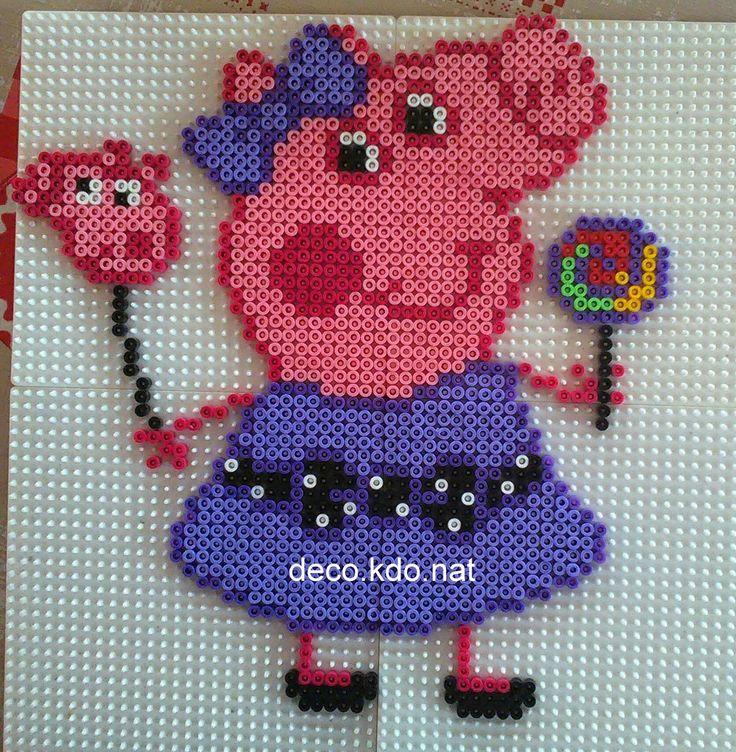 Peppa Pig hama perler beads by deco.kdo.nat