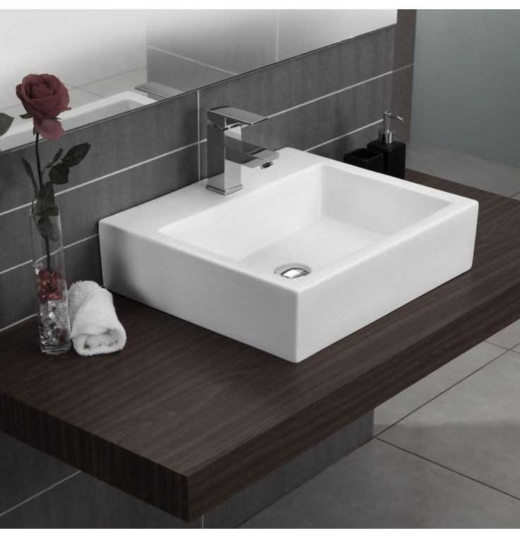 Soncera Square Table Top Basin Of 525 X 465 In White