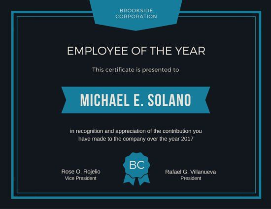 15 best work certificates images on pinterest certificate sample employee of the year award certificate yelopaper Choice Image