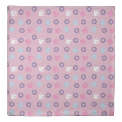 milk and donuts pink duvet cover - pink gifts style ideas cyo unique