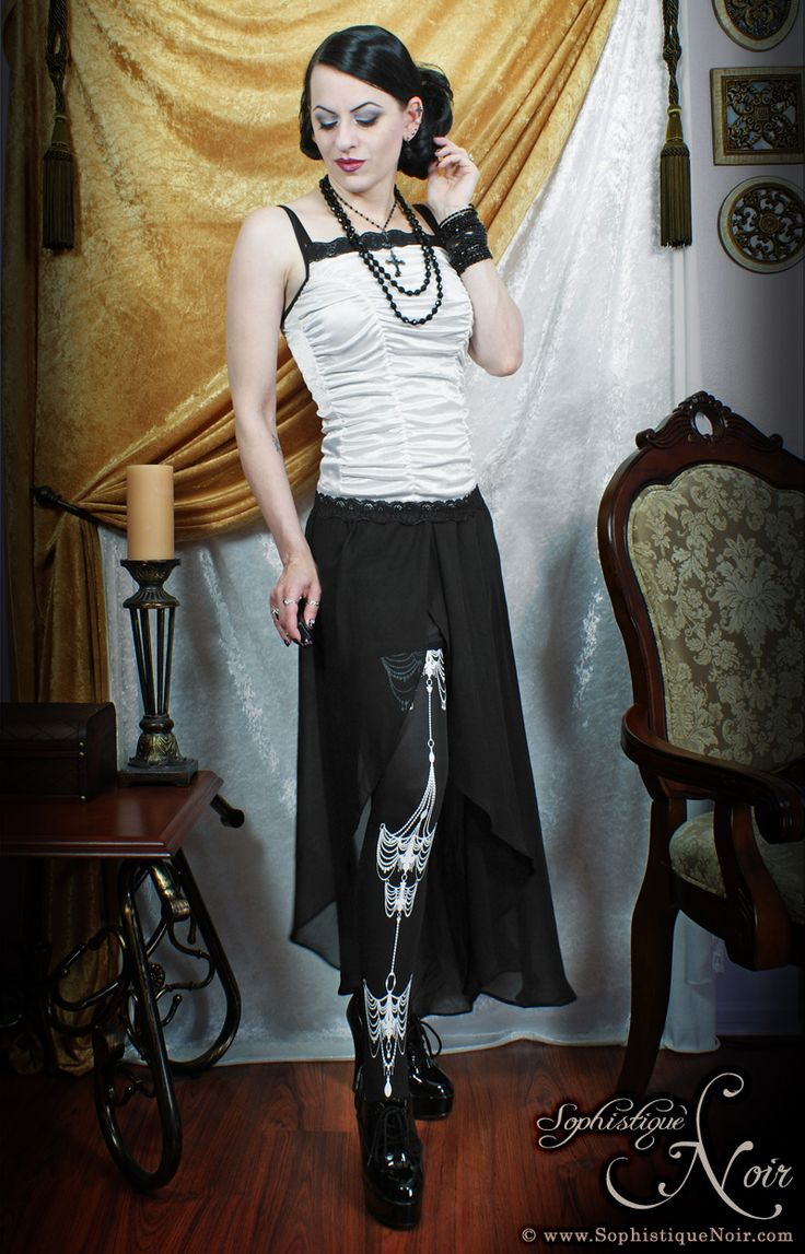 We love the Chandelier Tights! http://theasockalypse.com/shop/pearl-chain-stockings/