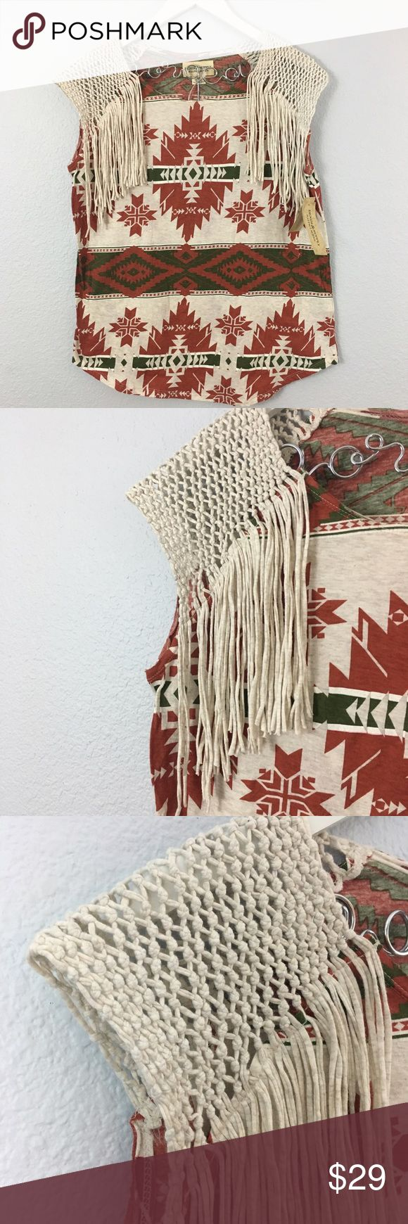 NWT {Ralph Lauren} Boho Western Fringe Top Boho western fringe top from Ralph Lauren Denim and Supply. New with Tags. Smoke and Pet Free Home. Fast shipping  Denim & Supply Ralph Lauren Tops Tees - Short Sleeve