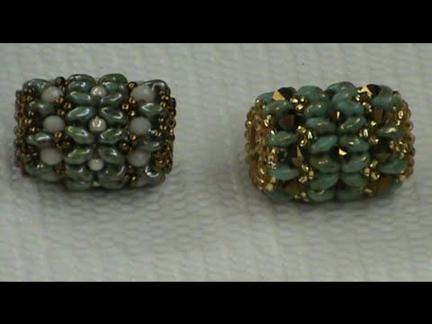 Video:  Pandora bead with superduos  #Seed #Bead #Tutorials