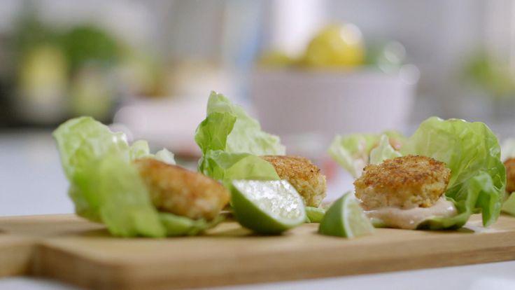 Mini-croquettes de crabe et tilapia et mayonnaise épicée