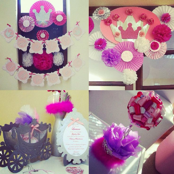 Babyshowerlp princesa decoracion centrosdemesa for Decoracion cumpleanos princesas