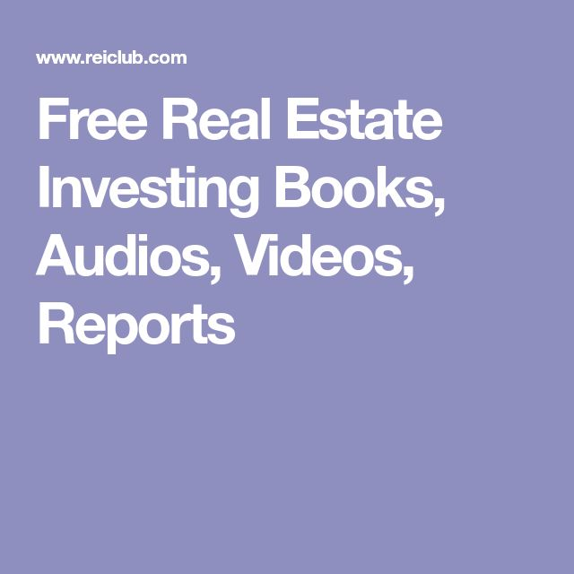 Free Real Estate Investing Books, Audios, Videos, Reports