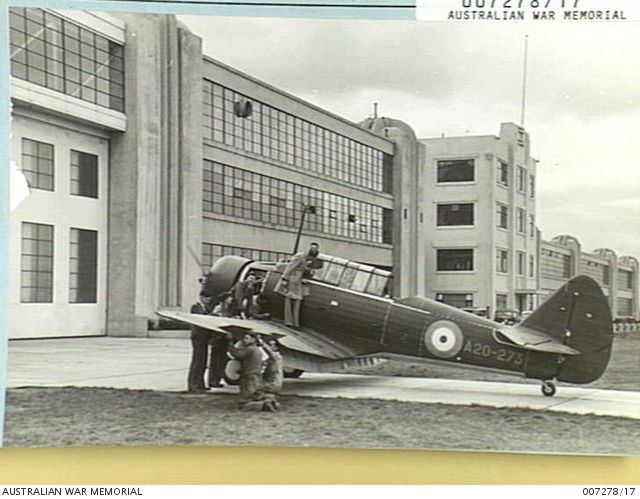 1941-05. COMMONWEALTH AIRCRAFT FACTORY. WIRRAWAY TRAINER FOR THE ROYAL AUSTRALIAN AIR FORCE NEARING COMPLETION. (NEGATIVE BY E. CRANSTONE).