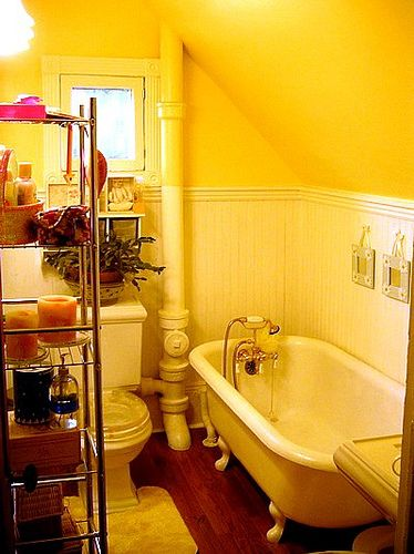 197 best images about gray yellow bathroom ideas on for Small yellow bathroom ideas