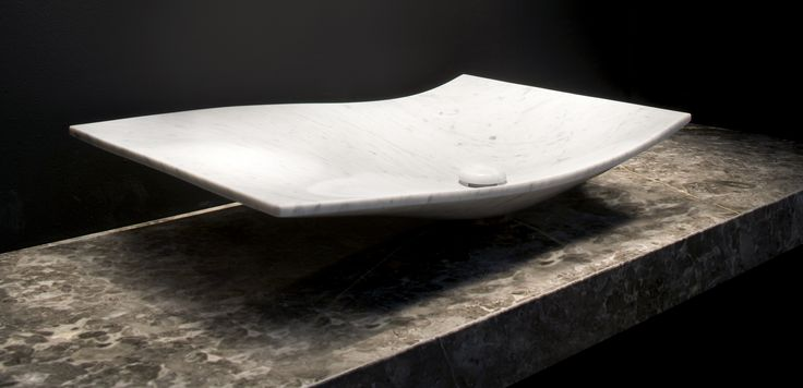 Hand Carved Float basin made to order. By Urban Edge Ceramics.