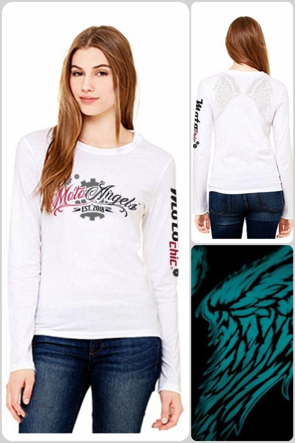 1957a1aef3c5c8 MotoAngels™ Ladies Antimicrobial Long Sleeve Tee