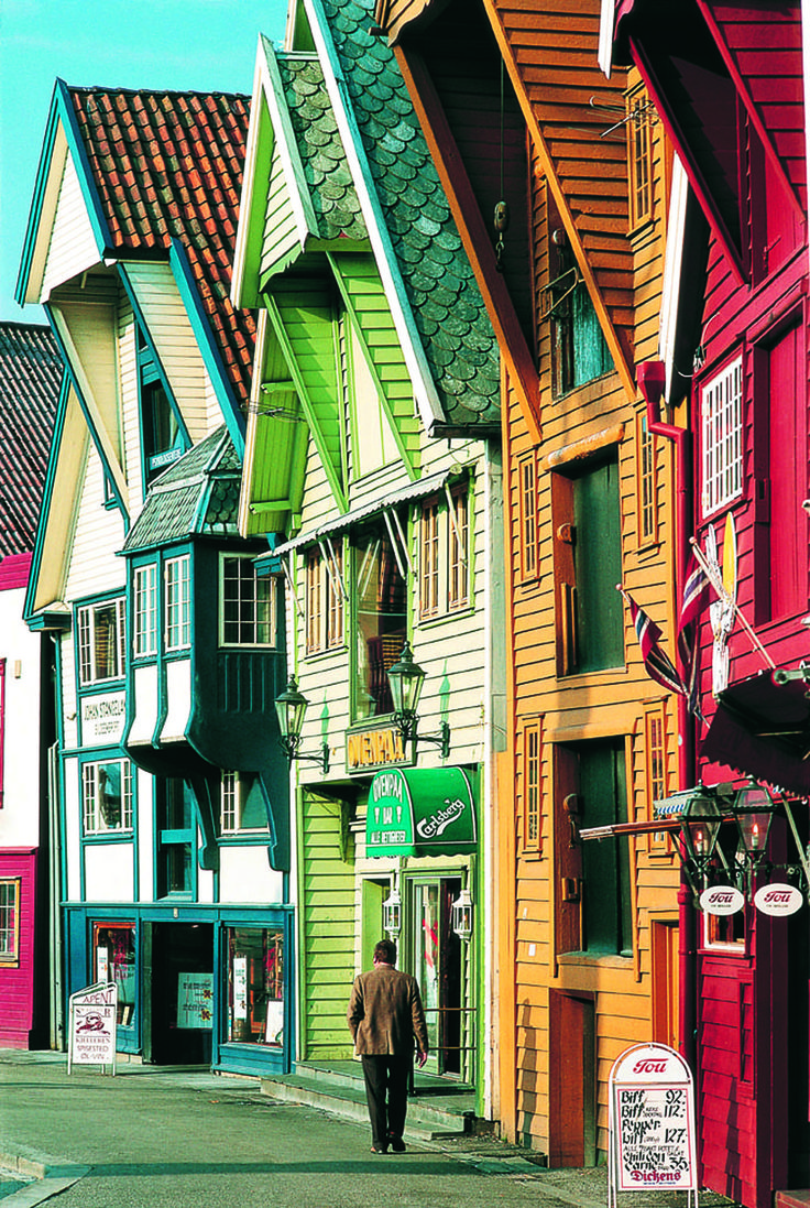Every Colour of the Rainbow in Bergen, Norway