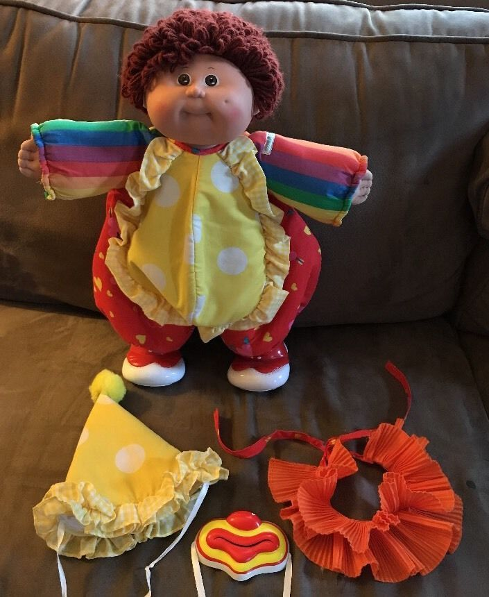 Cabbage Patch Kids Doll Red Hair Circus Clown Suit Boy Vintage 1986 Adorable  | eBay