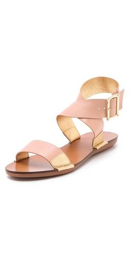 neutral and metallic sandals