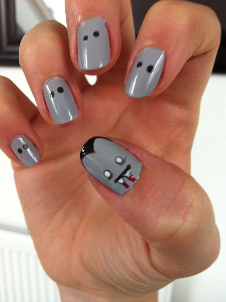 Vampire nails | Nail Art - Halloween/Day of the Dead | Pinterest