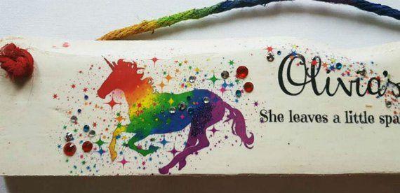 Personalize HORSE Kids Room SIGN Equestrian Wall Art Door Hanger Wood Plaque
