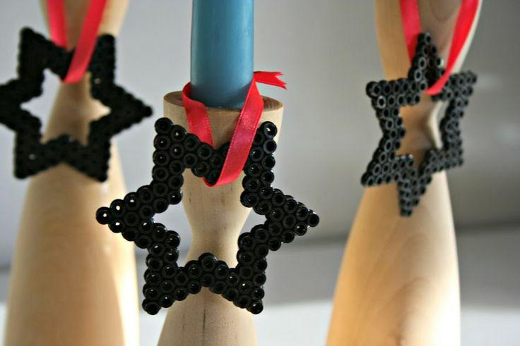 pralerier: Julepynt med Hama-perler