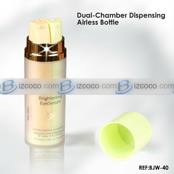 30ml 40ml 60ml dual chamber packing bottle