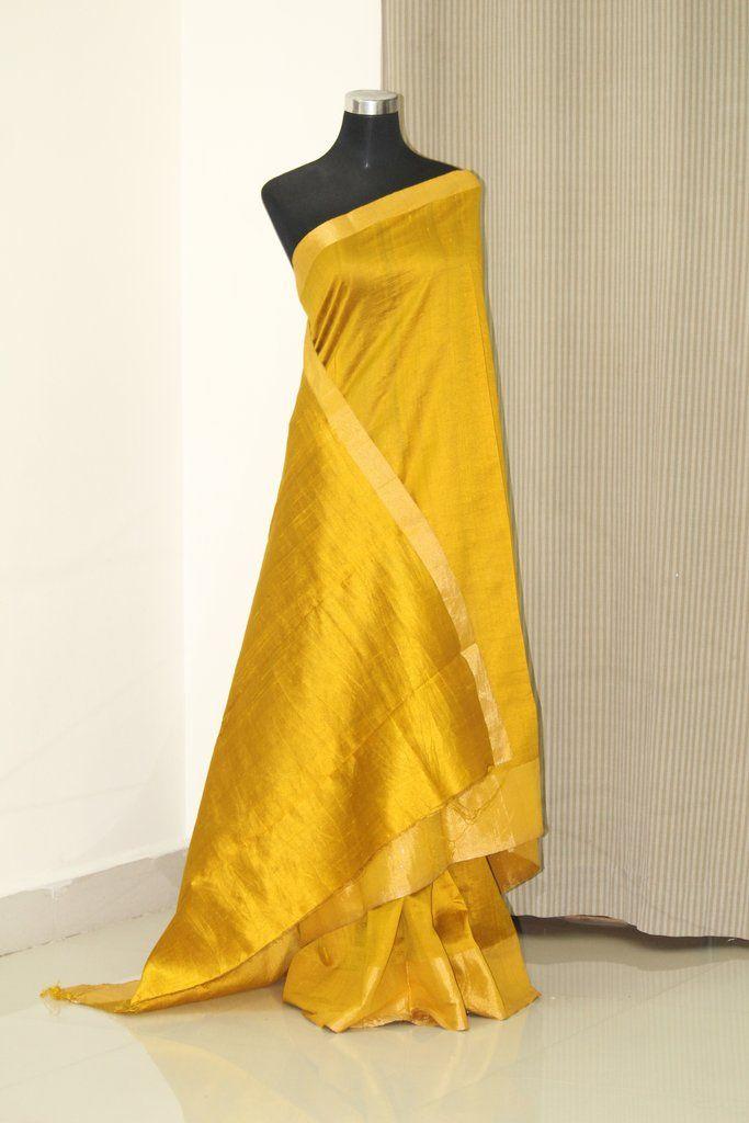 408bb7beb6 Pure raw silk saree with zari border in 2019 | akrithi | Raw silk saree,  Silk sarees, Silk sarees online shopping
