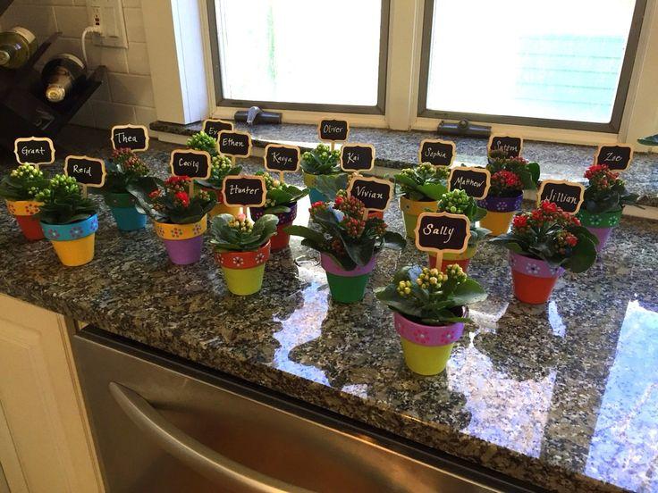 Petits Pots fleuris  douche nuptiale faveurs  Baby Shower