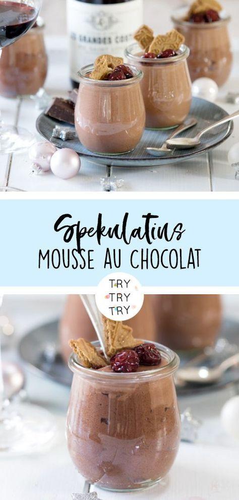 Spekulatius – Mousse au Chocolat mit kandierten Kirschen | Dessert im Glas | Weihnachten | Christmas | Weihnachtsdessert – Steffi Wa