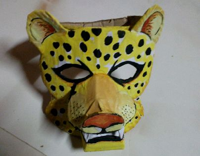 """Check out new work on my @Behance portfolio: """"Leopard Mask""""…"""