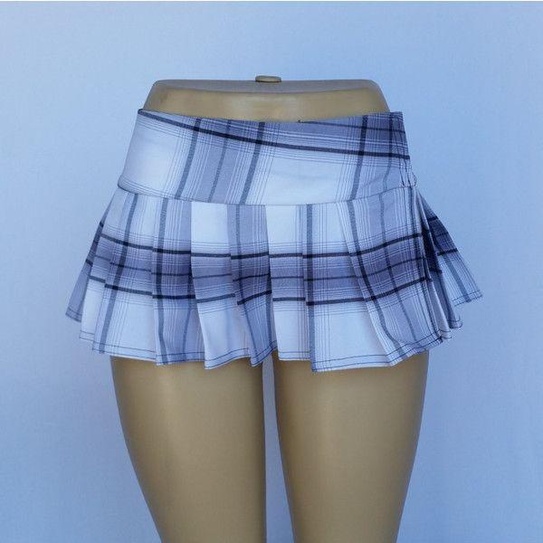 White Micro Mini Tartan Stewart School Girl Plaid Pleated Skirt (Opens... ($25) ❤ liked on Polyvore featuring skirts, mini skirts, grey, women's clothing, wrap mini skirt, pleated mini skirt, white mini skirt, plaid skirt and plaid mini skirt