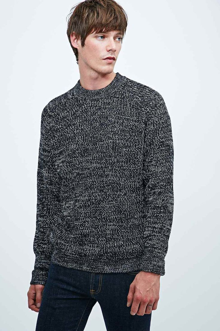 Urban Renewal Vintage Surplus Pop Grunge Knit Jumper in Dark Grey
