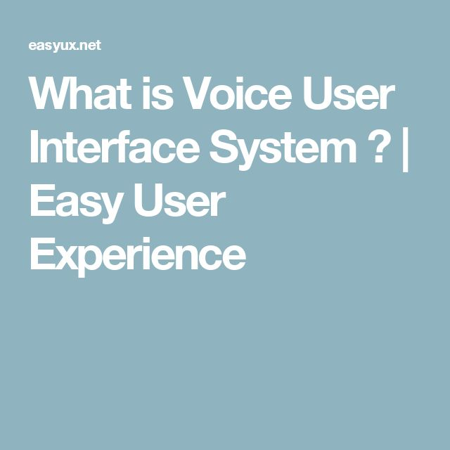 What is Voice User Interface System ? | Easy User Experience