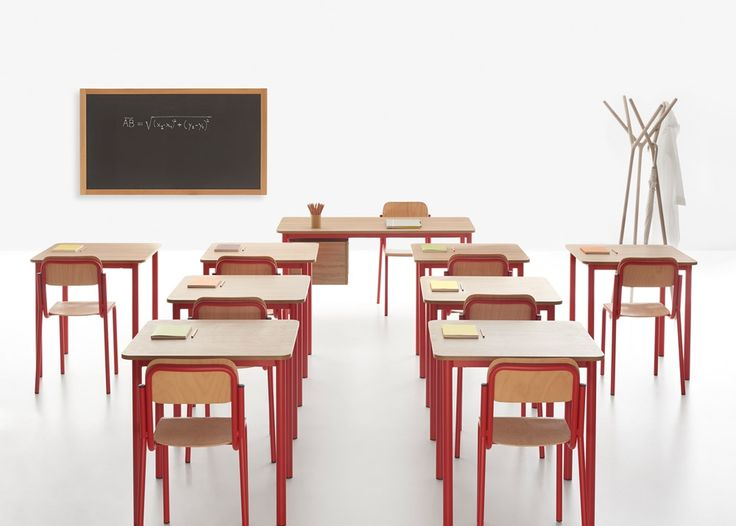 Back to School! The #Easy #modular tables by Manerba are easy to move in case an area needs to be quickly reorganized #classroom #school #education