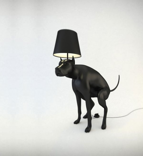Pooping Dog Lamps - Good Boy and Good Puppy are two, pooping dog, floor  lamps designed by Whatshisname. To turn the lamps on or off, one must step  on a fake ...