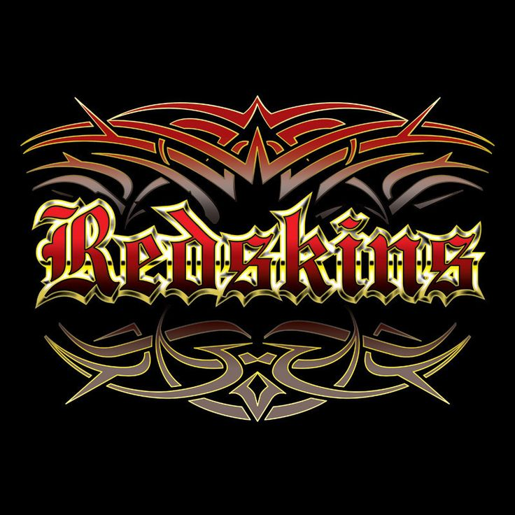 NEW Redskins tattoo style men's black T-shirt Washington X-LARGE XL