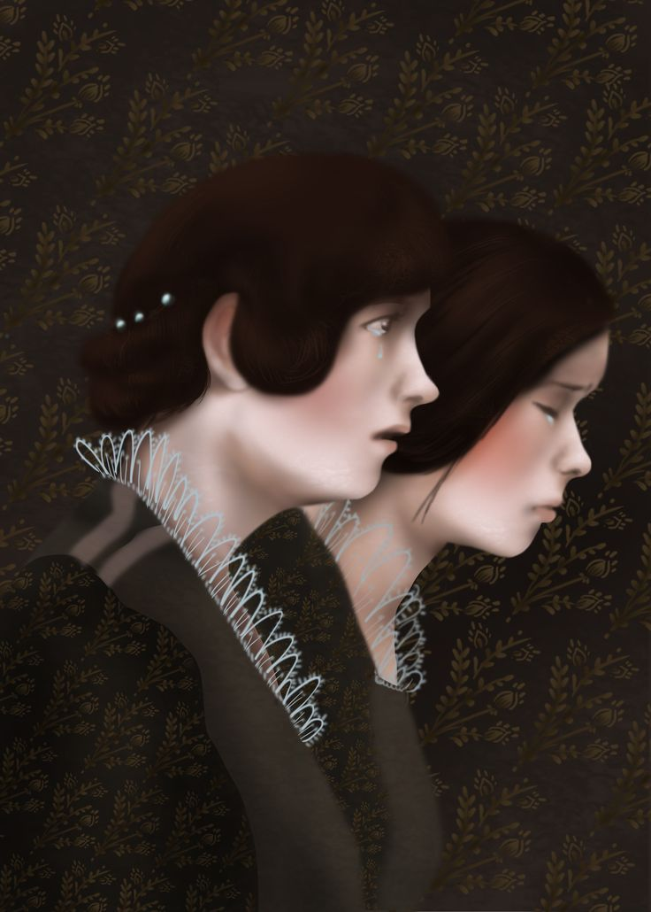 "mourners, ""Romeo and Juliet"" by William Shakespeare, Illustration Paulina Wyrt GREG Publishing House, 2016"