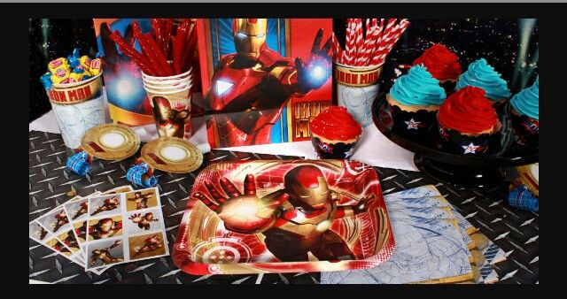 Iron Man, various party store items