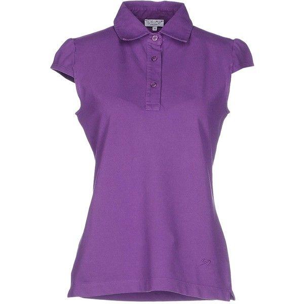 9.2 By Carlo Chionna Polo Shirt ($29) ❤ liked on Polyvore featuring tops, purple, purple polo shirts, polo shirts, short sleeve tops, short sleeve polo shirts and logo polo shirts