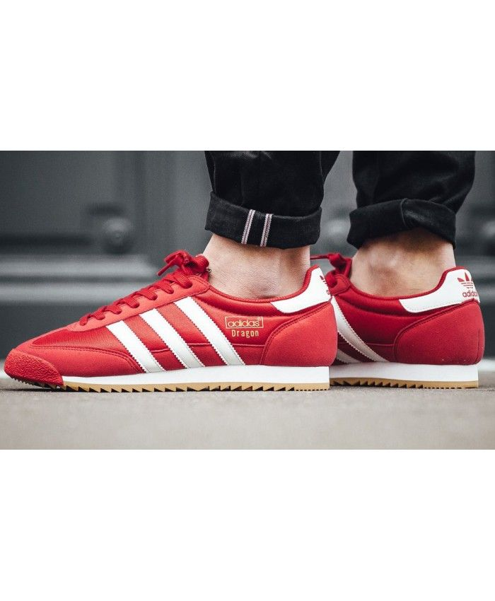 a5b943d1368 Adidas Dragon Red White Gum Trainers
