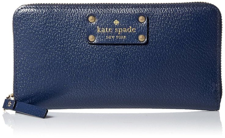 Kate Spade Wellesley Neda Leather Wallet Wlru1153 French Navy Clutch. Get the trendiest Clutch of the season! The Kate Spade Wellesley Neda Leather Wallet Wlru1153 French Navy Clutch is a top 10 member favorite on Tradesy. Save on yours before they are sold out!