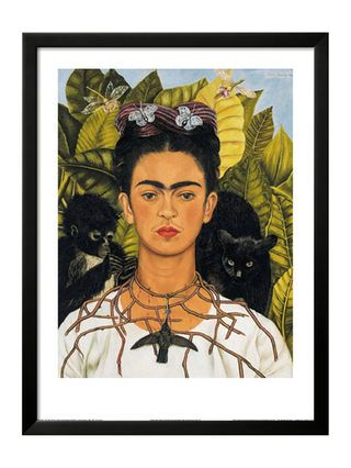 $150 Self-Portrait with Thorn Necklace and Hummingbird, c.1940, by Frida Kahlo (Framed) by The Art Studio at Gilt
