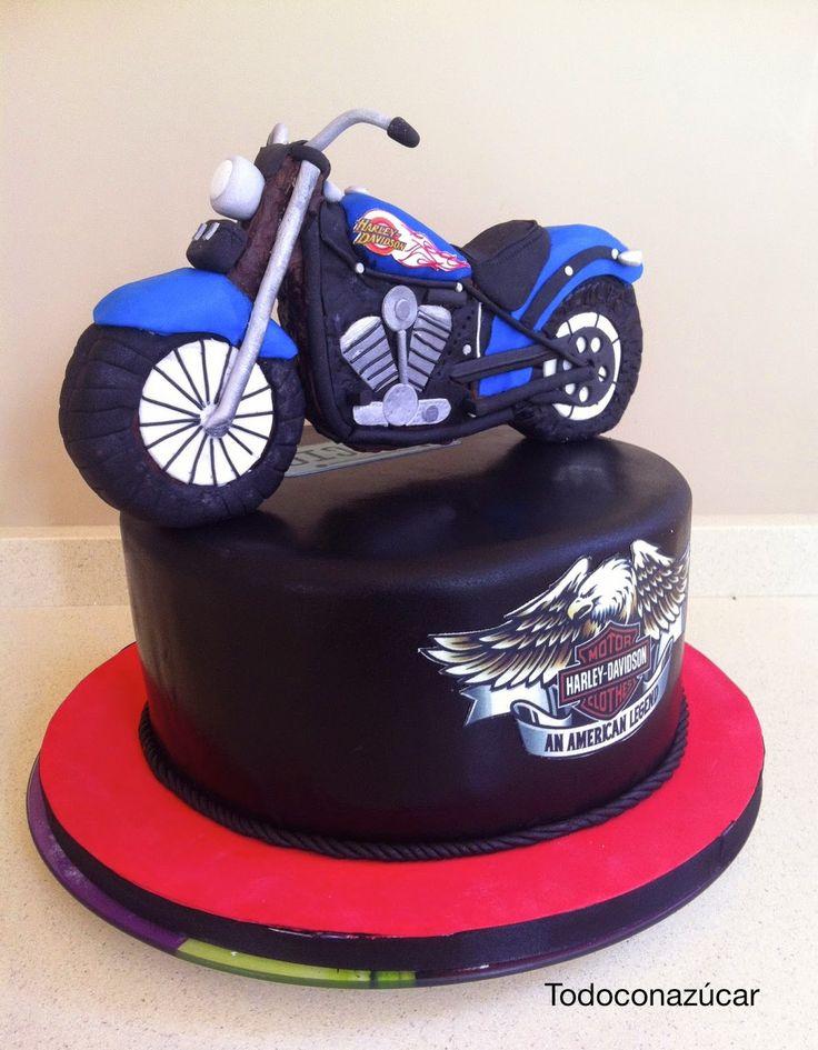Tarta Harley Davidson con fondant.