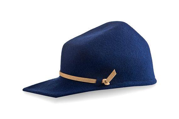 Felt Visor Hat  Men Felt Hat  Harry by JustineHats on Etsy