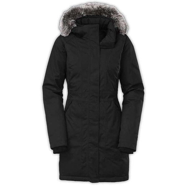 The North Face Women's Arctic Down Parka (385 CAD) ❤ liked on Polyvore featuring outerwear, coats, tnf black, insulated coat, insulated trench coat, the north face, trench coat and parka coats
