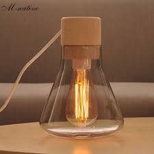 Image result for wooden bedside lamp