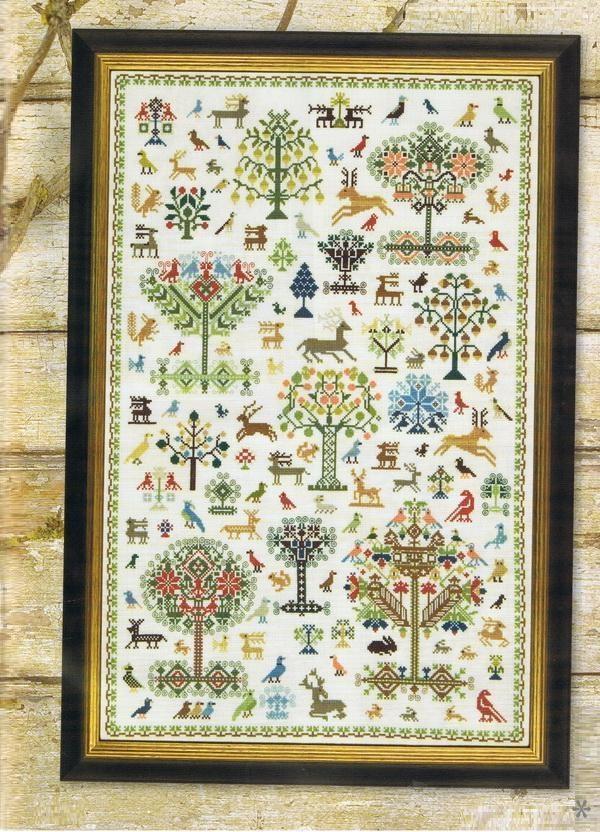 Historic forest sampler - Stitches Magazine Issue 219 part 1. Issue 220 part 2