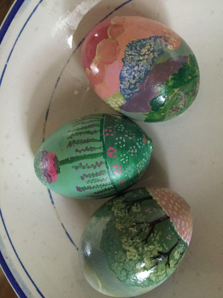 Vere uova, svuotate, riempite di sale e decorate - Pasqua