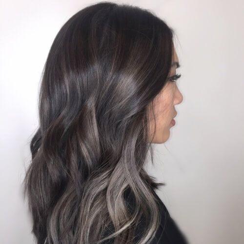 Charcoal Highlights Highlights For Dark Brown Hair Hair
