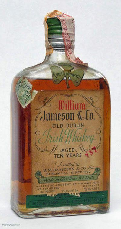 vintage irish whiskey bottles - Google Search                                                                                                                                                                                 More